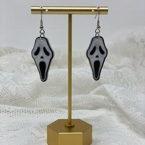 Scream Mask Halloween Spooky Earrings